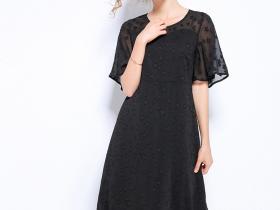 减龄遮肚黑色仙裙,微胖界女孩的福音!